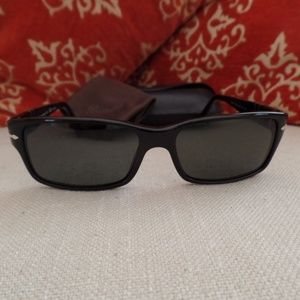 Persol 2803 S Black/Crystal Green Polarized Lens